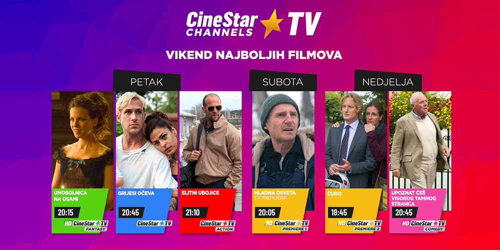 Vikend najboljih filmova je na CineStar TV Channels