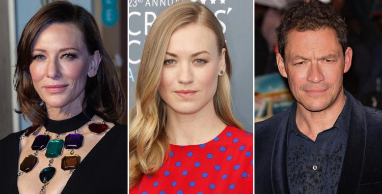 "Cate Blanchett, Yvonne Strahovski i Dominic West u TV seriji ""Stateless"""