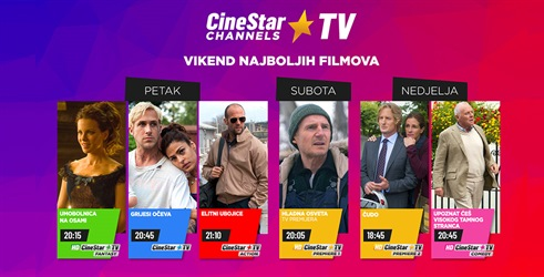 Vikend najboljih filmova je na CineStar TV Channels